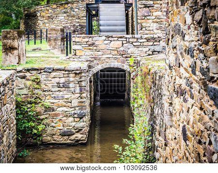 Waterwheel and Stone Walls at Mill