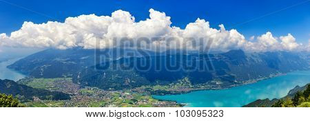 Panoramic View On Switzerland Mountain Landscape
