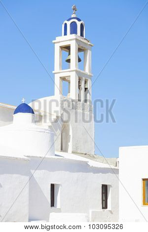 Greek church on the Tinos Island, Greece.