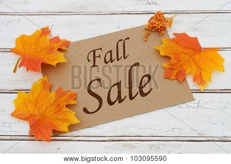 Fall Sale Card