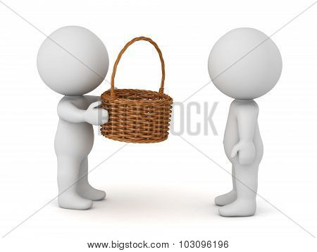 3D Character Giving Basket
