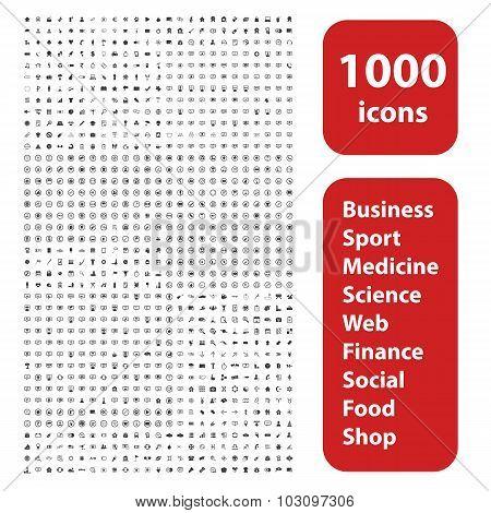 1000 icons set