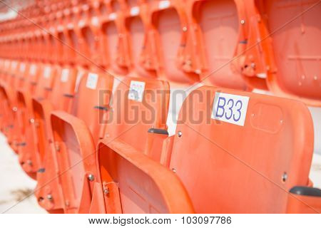Amphitheater Of Orange Seats