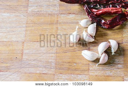 Several Fresh Garlic