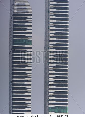 Acico Twin Towers along Sheikh Zayed Road in Dubai, UAE