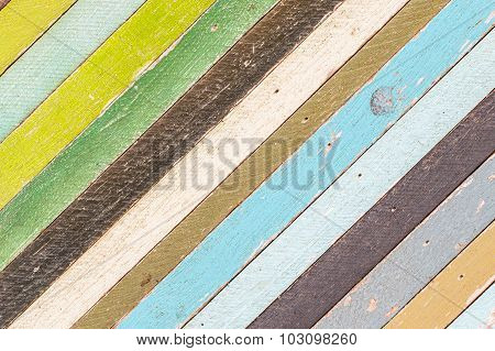 Abstract Old Wood Texture Background Colorful