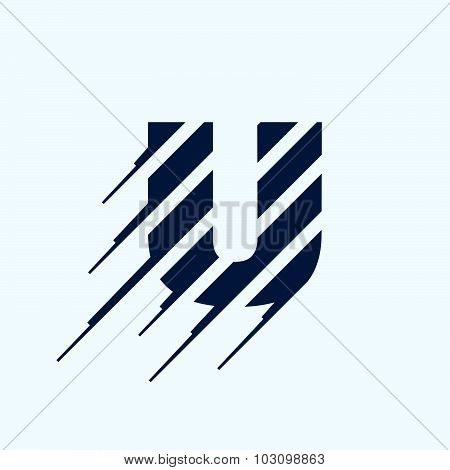 U Letter Logo Design Template.