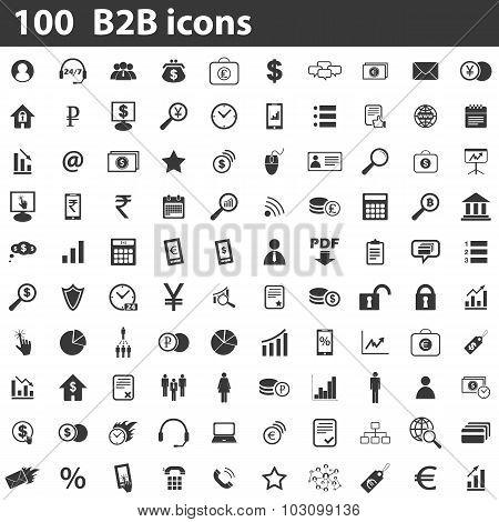 100 B2B icons set