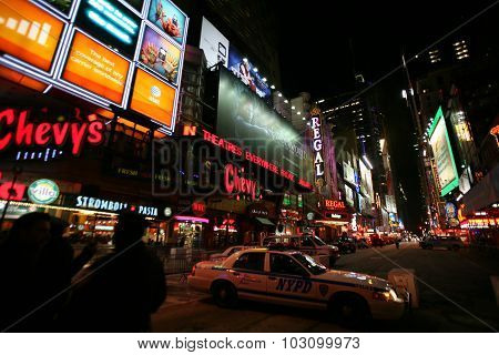 New York City - Jan 1: Times Square, New York Street Night Life