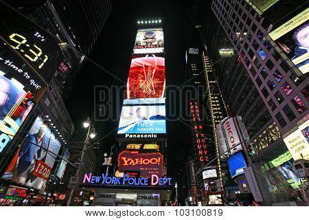 New York - Jan 2: Times Square, New York Street Night Life January 2, 2008, New York. New York Which