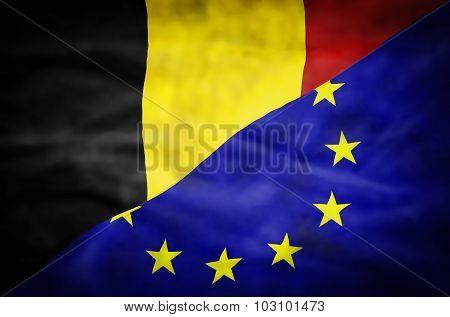Belgium and European Union mixed flag.