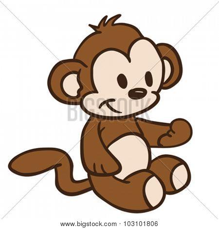 little monkey cartoon illustration
