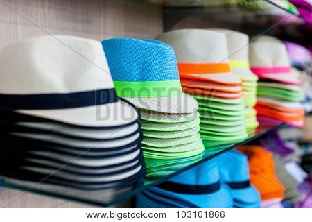 Hats in street market
