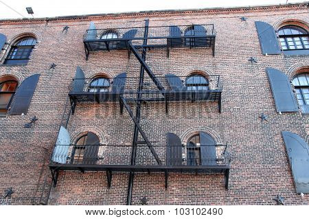 Fire Escape Of An Apartment Building In New York City