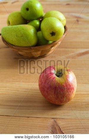 Apple And Pears On The Plate