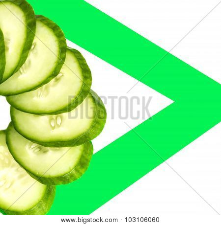 Cucumber Sliced Rings Closeup