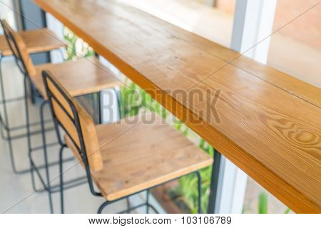 Table and empty space for your decoration