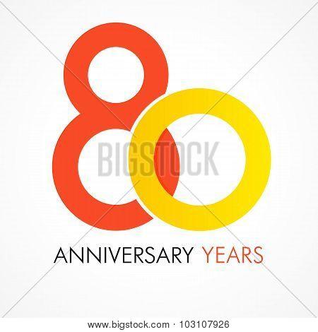 80 circle anniversary logo