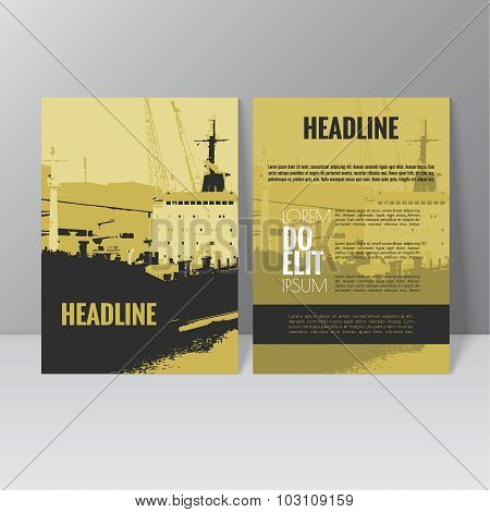 Vector brochure template design. L