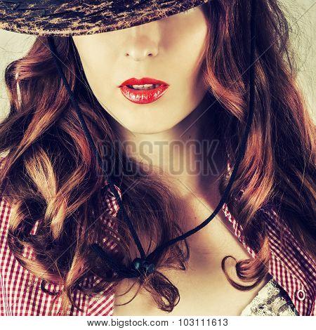 Beautiful Full Red Lips