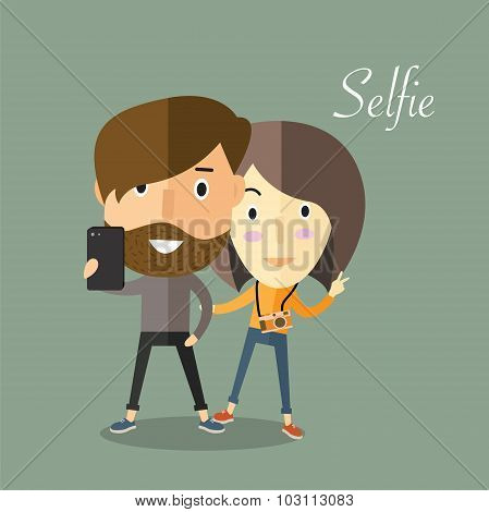 selfie with girlfriend
