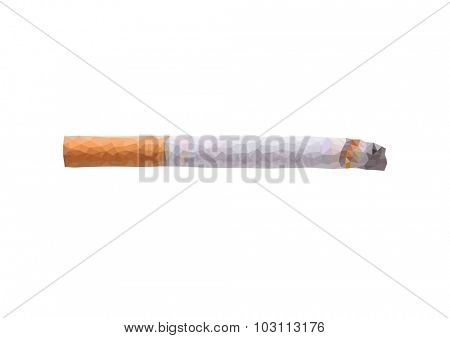 polygon concept cigarette on a white background