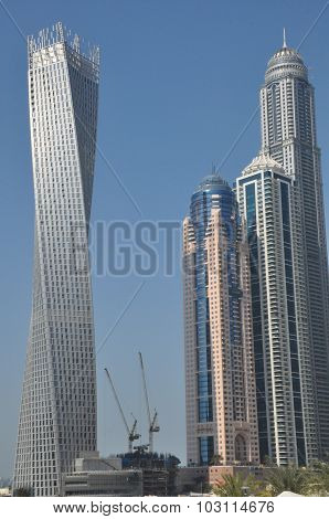 Cayan Tower at Dubai Marina in Dubai, UAE