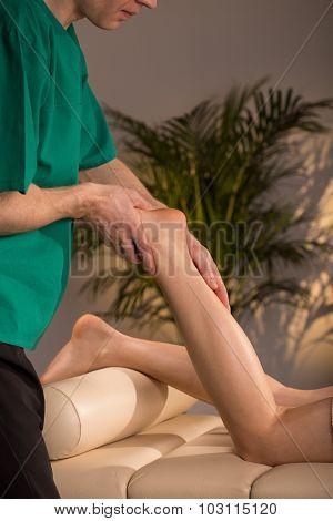 Massage Therapist Doing Functional Massage