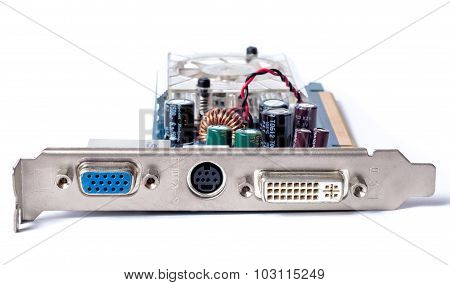 Computer Graphics Card On A White Background