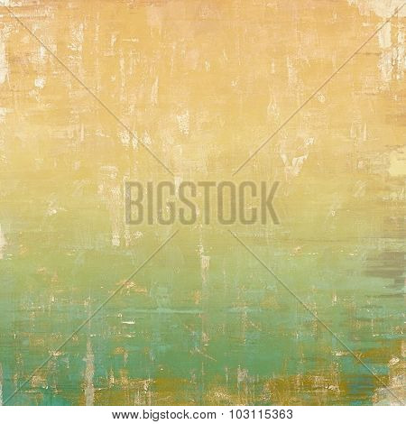 Grunge background or texture for your design. With different color patterns: yellow (beige); brown; green; cyan