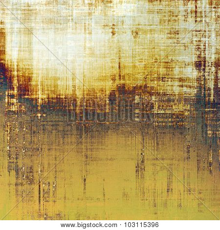 Colorful vintage texture. With different color patterns: yellow (beige); brown; gray; black