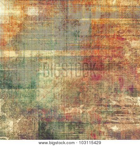 Old background with delicate abstract texture. With different color patterns: yellow (beige); brown; green; red (orange)