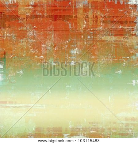 Old Texture or Background. With different color patterns: yellow (beige); brown; green; red (orange)