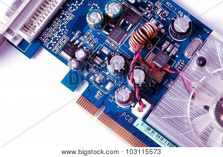 Detail Of Electronic Board ,macro With Extremely Shallow Dof