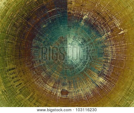 Old designed texture as abstract grunge background. With different color patterns: yellow (beige); brown; green; blue