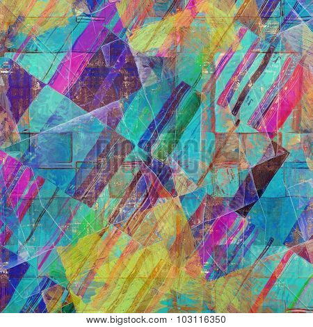Grunge texture, may be used as retro-style background. With different color patterns: yellow (beige); purple (violet); green; blue; pink