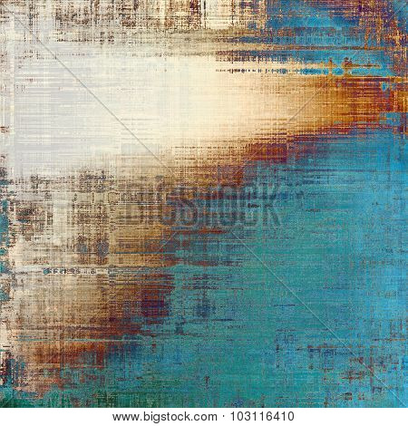 Abstract grunge background. With different color patterns: brown; blue; gray; cyan