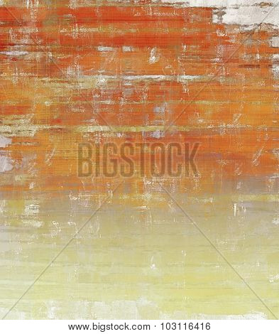 Abstract textured background designed in grunge style. With different color patterns: yellow (beige); brown; red (orange); gray