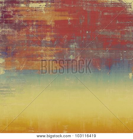 Antique vintage texture or background. With different color patterns: yellow (beige); brown; purple (violet); blue