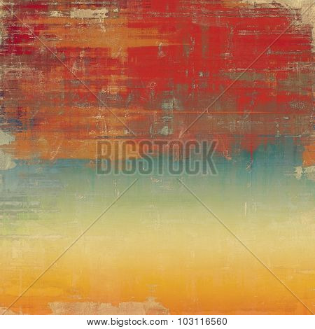 Grunge texture or background with space for text. With different color patterns: yellow (beige); brown; red (orange); blue