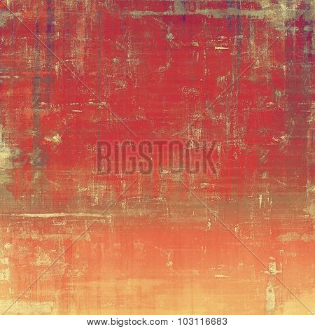 Antique vintage texture or background. With different color patterns: brown; red (orange); gray; pink