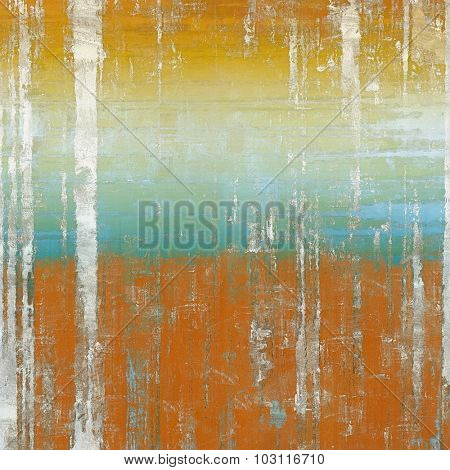 Cracks and stains on a vintage textured background. With different color patterns: yellow (beige); brown; blue; cyan