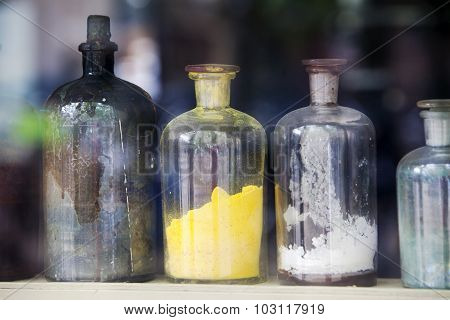 Coloring Agent In Bottles For Giving Color To The Paint