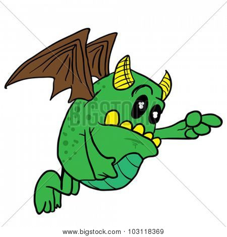winged monster cartoon illustration