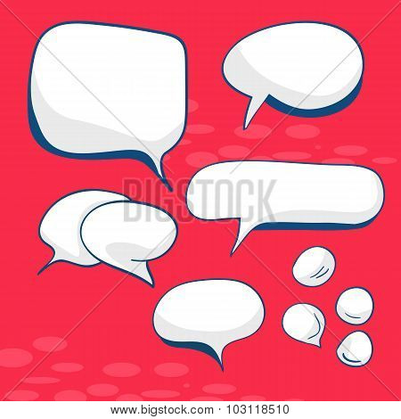 Decorative speech bubbles hand-drawn illustration