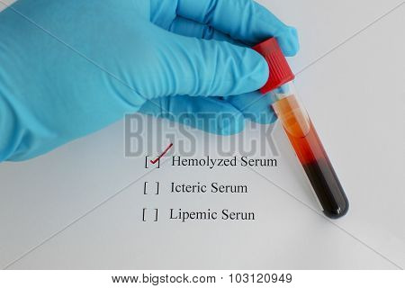 Hemolysis blood sample
