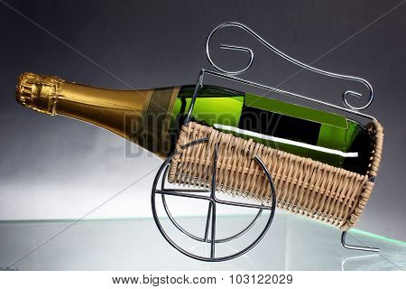 Sparkling White Wine Bottle, Champagne Bottle
