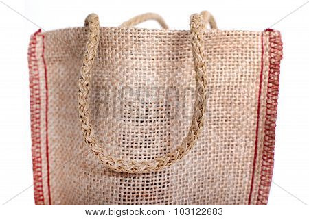 part of the eco Shopping bag made out of recycled Hessian sack