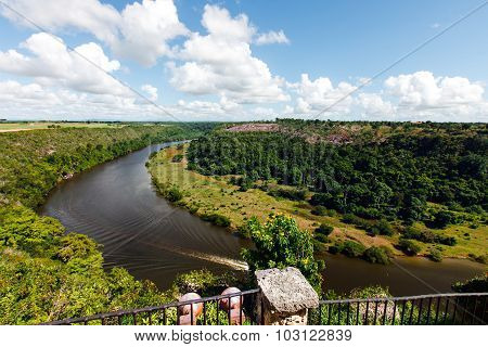 Tropical river Chavon