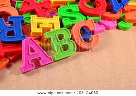 Colored Plastic Alphabet Letters Abc
